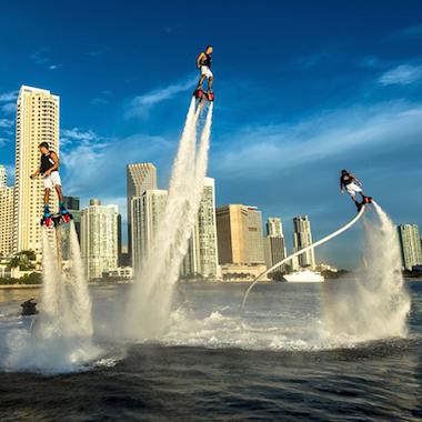 邁阿密水上飛板,體驗水上鋼鐵人的快感
