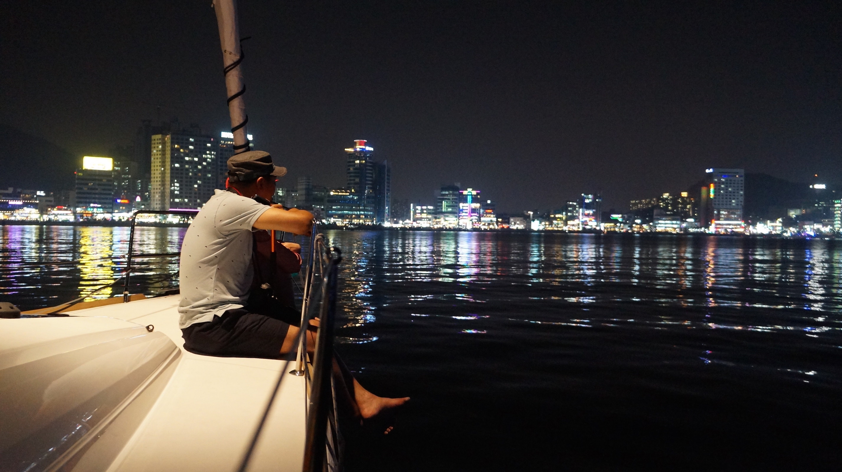 Nighttime Yacht Cruise in Busan