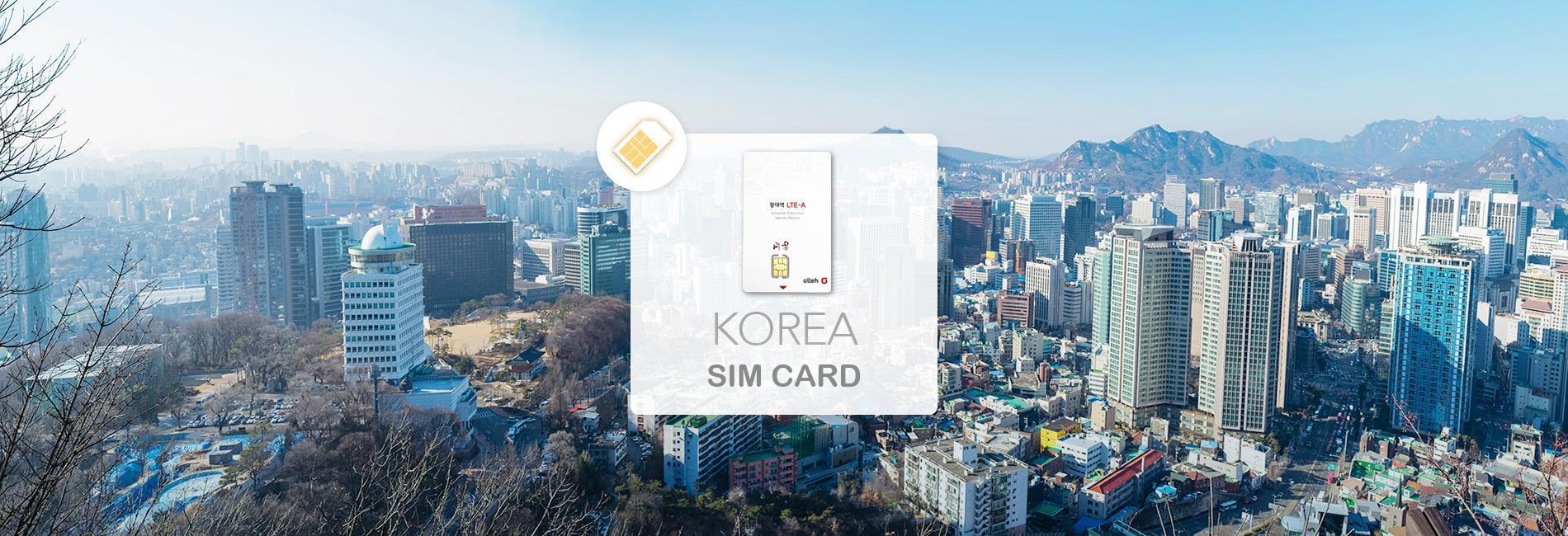 South Korea Unlimited 4G/LTE KT Olleh SIM Card (Pick-Up at Taiwan Taoyuan International Airport)