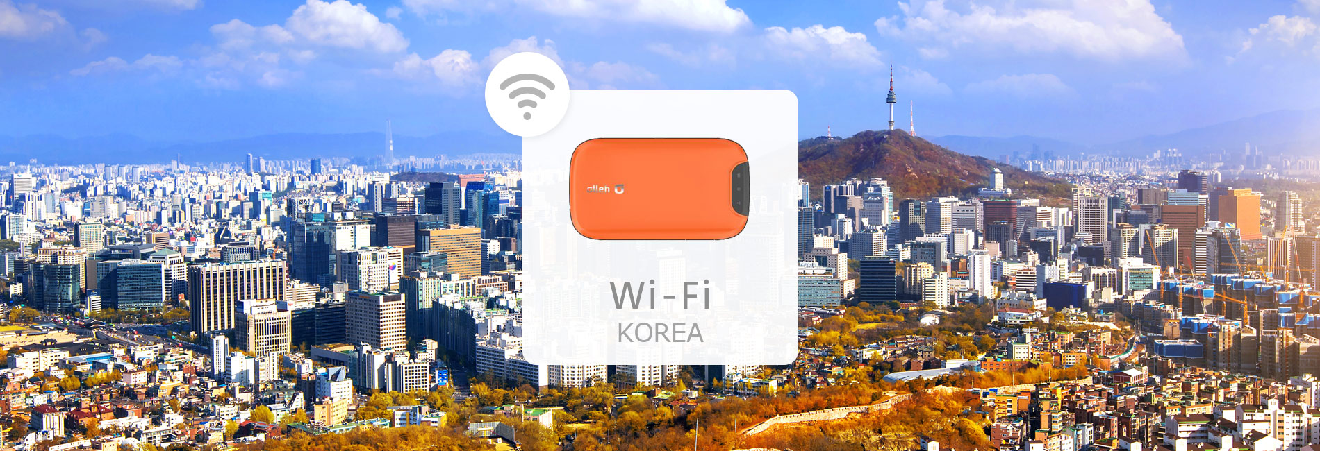 South Korea Unlimited 4G Portable Wi-Fi Rental (Pick-Up at Korea Airports)